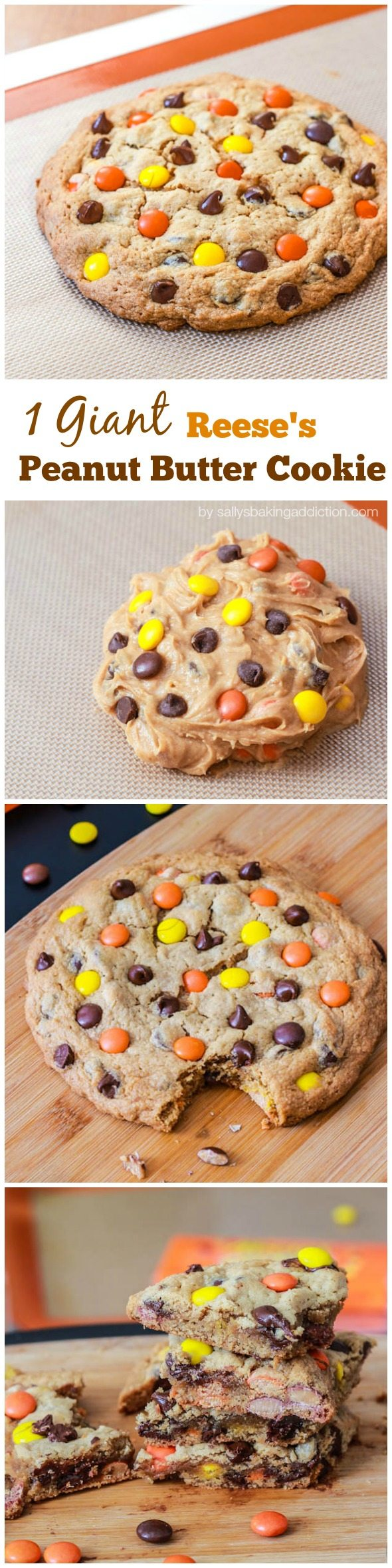 1 Giant Reese's Pieces Peanut Butter Cookie