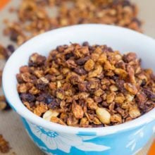 Oatmeal Raisin Cookie Granola by sallysbakingaddiction.com