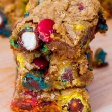Pretzel M&M Blondies