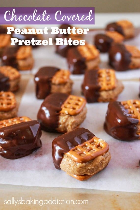Chocolate Covered PB Pretzel Bites