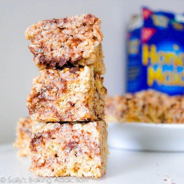 S'mores Rice Krispie Treats by sallysbakingaddiction.com