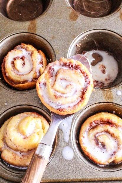 The quickest mini, itty-bitty cinnamon rolls! No yeast required. @ ...