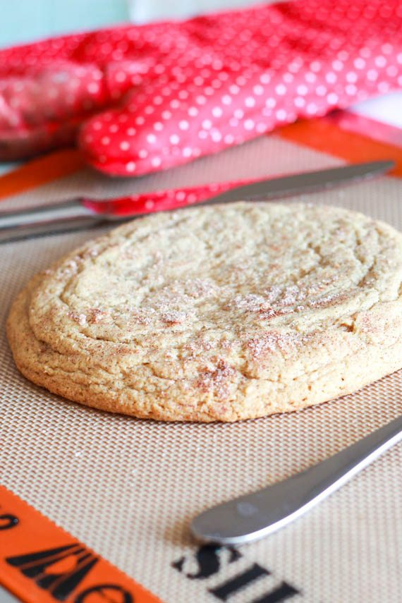 Giant Snickerdoodle Cookie - recipe for 1 cookie!