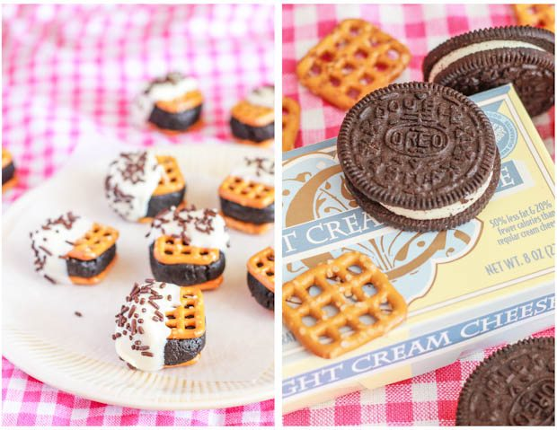 Quick, easy and addicting Oreo Cheesecake Pretzel Bites. Sweet and salty perfection!