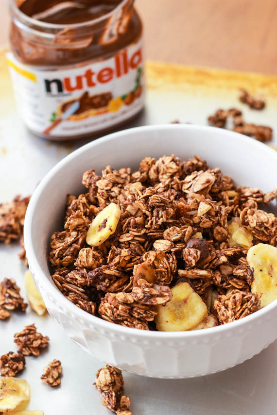 Try my Banana Nutella Granola next… it will magically disappear.