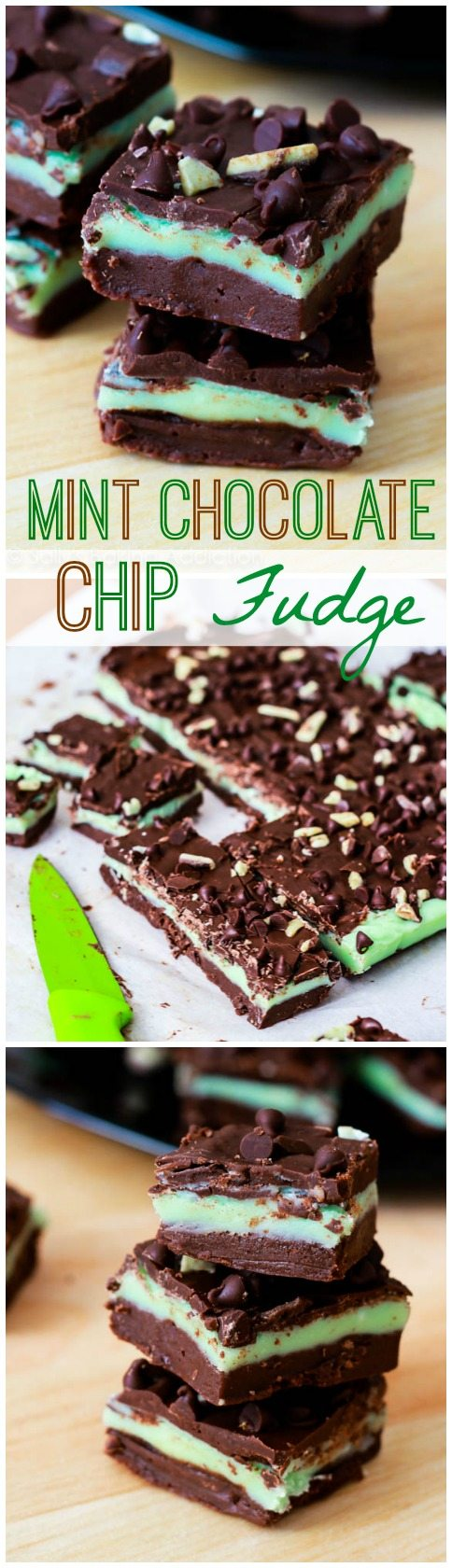 The BEST Mint Chocolate Chip Fudge