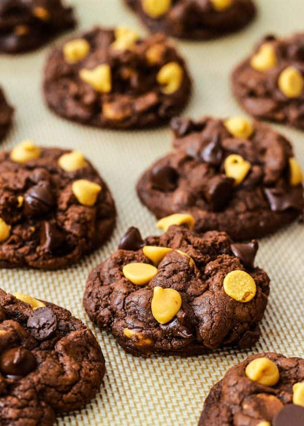 Death by Chocolate Peanut Butter Chip Cookies