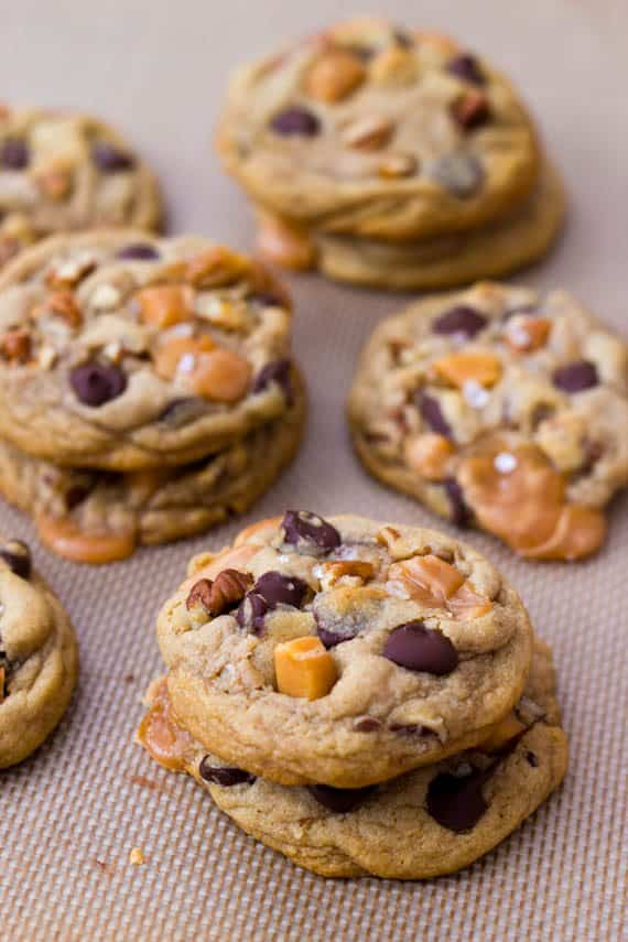 Salted Caramel Pecan Chocolate Chip Cookies | BlogHer