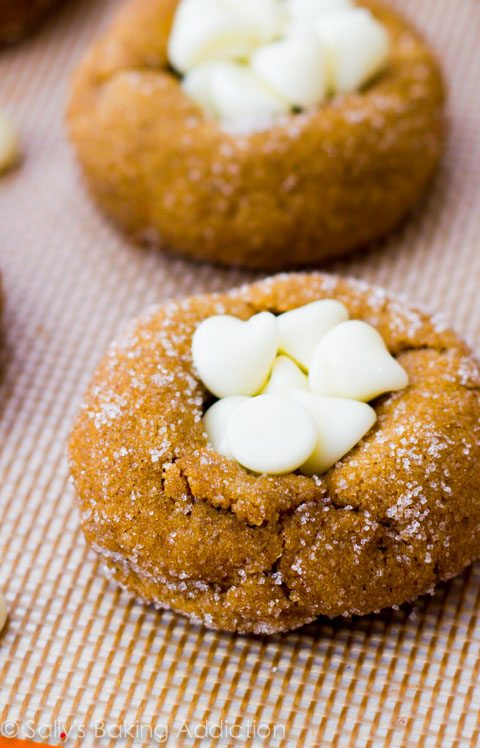 White Chocolate Chip Gingersnap Cookies-- you will LOVE these!