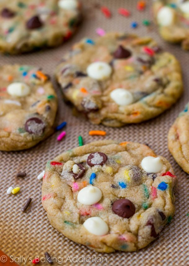 Cake Batter Chocolate Chip Cookies by Sallys Baking Addiction-8