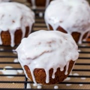 Gingerbread Muffins with Sweet Lemon Glaze-5