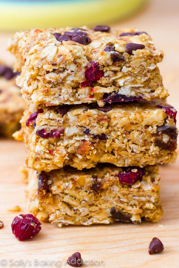 Peanut Butter Trail Mix Bars - Sallys Baking Addiction