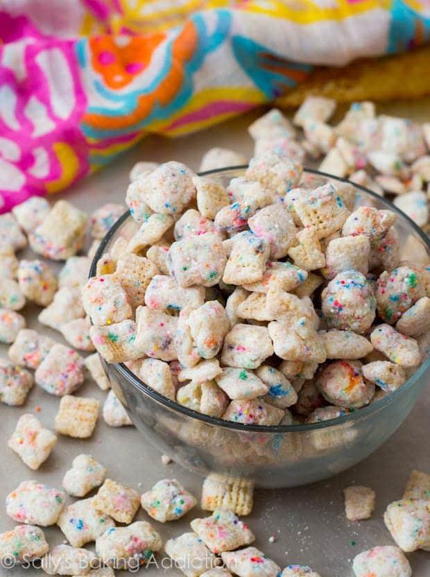 Cupcake Puppy Chow by sallysbakingaddiction.com