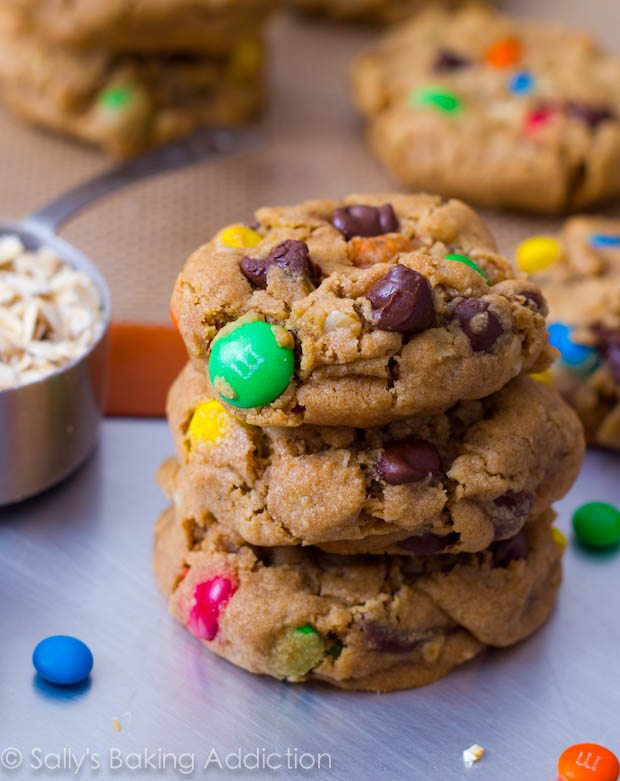 Soft-Baked Rainbow Monster Cookies