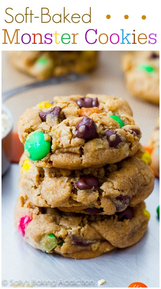 Monster Peanut Butter Cookies - the best monster cookies you'll ever make! @sallybakeblog