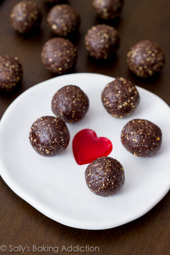 Chocolate Truffle Energy Bites by sallysbakingaddiction.com