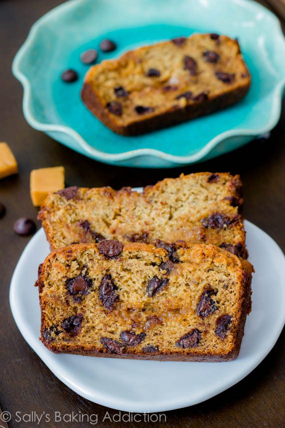 Caramel Swirl Chocolate Chip Banana Bread-5