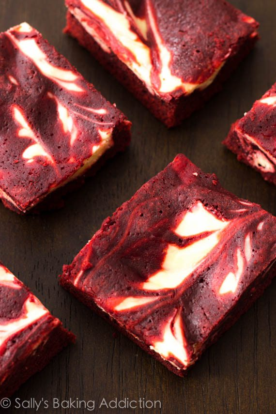 Red Velvet Cheesecake Brownies. Decadent, moist, & indulgent! sallysbakingaddiction.com