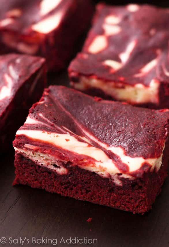 Red Velvet Cheesecake Swirl Brownies - Sallys Baking Addiction