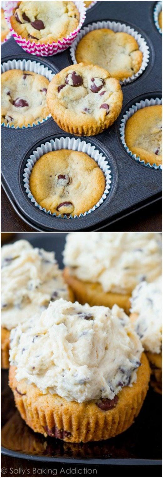 Chocolate Chip Cookie Dough Cupcakes - Sallys Baking Addiction