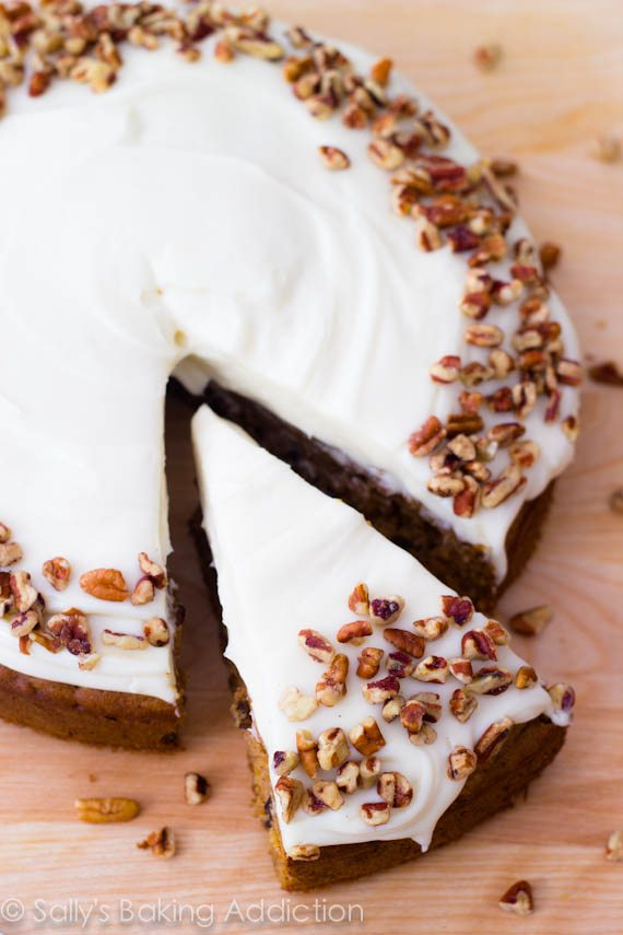 ... homemade Carrot Cake with Cream Cheese Frosting. Super-moist and easy