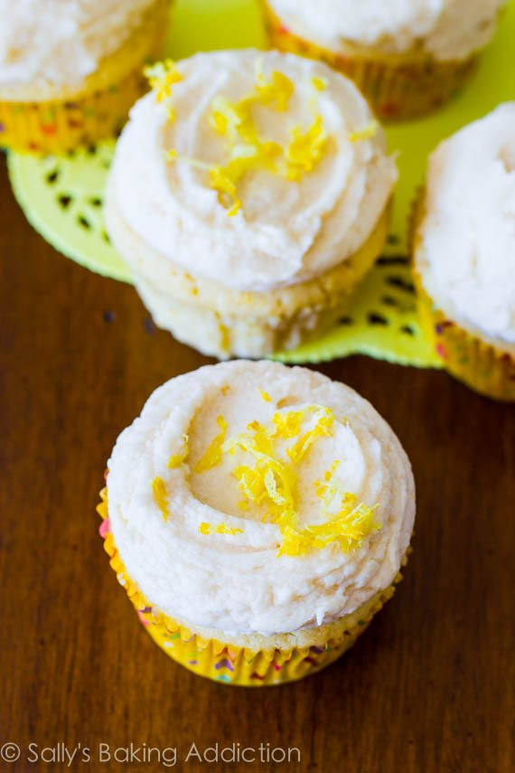 Lemon Cupcakes with Vanilla Bean Frosting