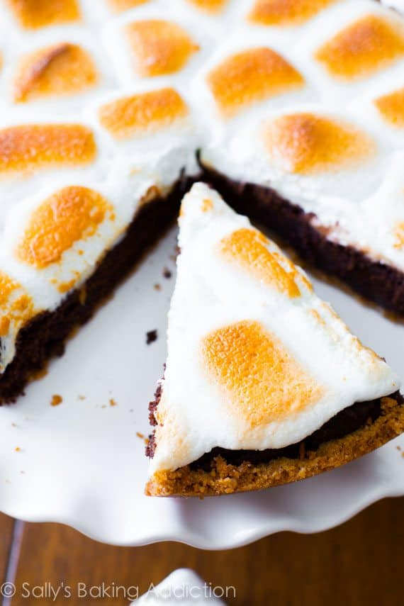 S'mores Brownie Pie is a new favorite! Brownies will never be the same again.