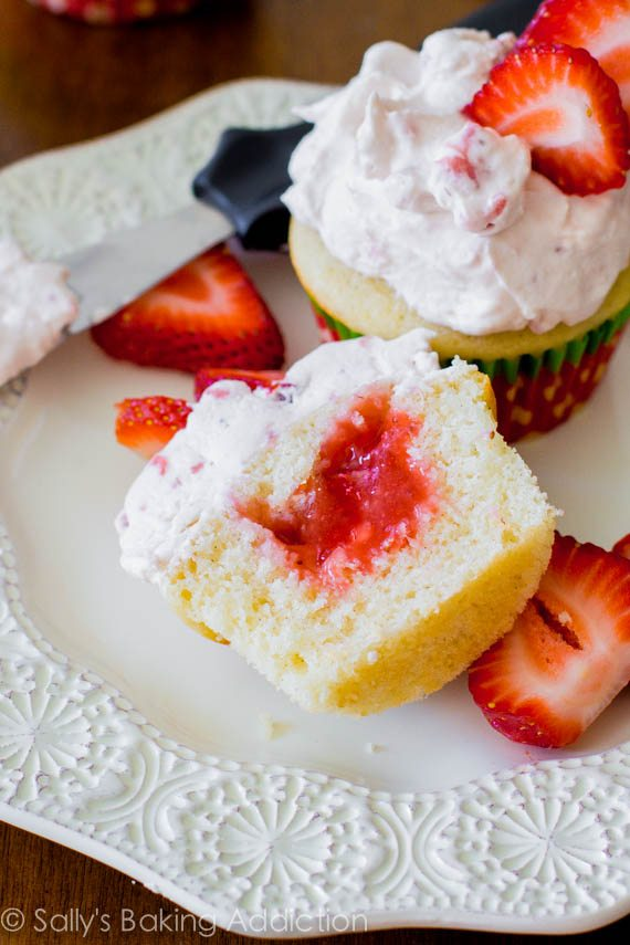These fluffy, fruity Strawberry Shortcake Cupcakes are made completely ...