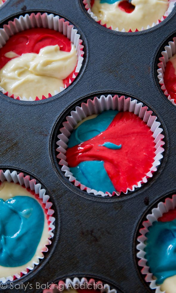 How to make festive, colorful tie-dye homemade vanilla cakes and cupcakes for any occasion!
