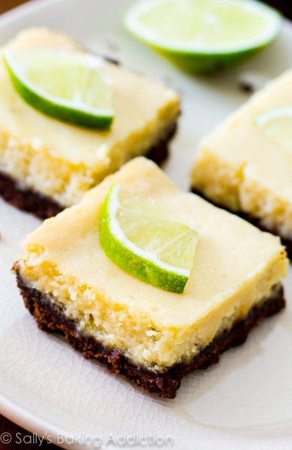 Key Lime Bar Bars @sallybakeblog