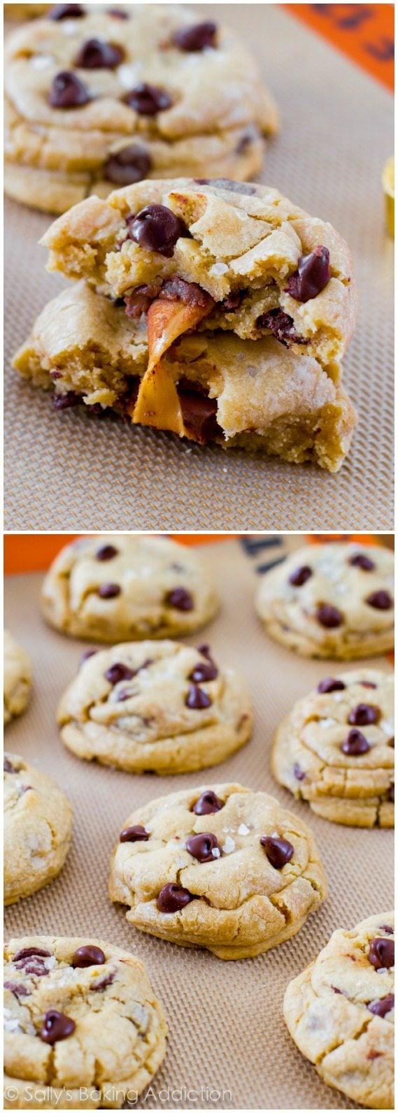 Salted Caramel Chocolate Chip Cookies - Sallys Baking Addiction