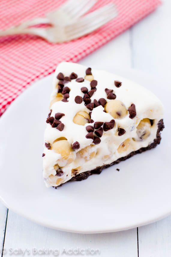 Chocolate Chip Cookie Dough Ice Cream Pie. Loaded with EXTRA cookie dough!