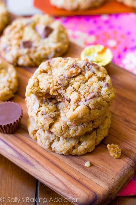 Peanut Butter Cup Oatmeal Cookies - Sallys Baking Addiction