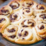 Banana Chocolate Chip Cinnamon Rolls-2