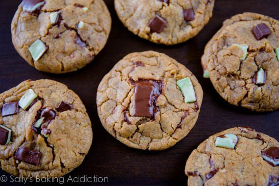 Mocha Mint Chocolate Chunk Cookies