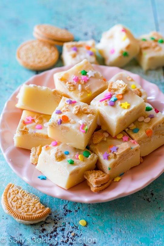 Funfetti Golden Oreo Fudge Sallys Baking Addiction