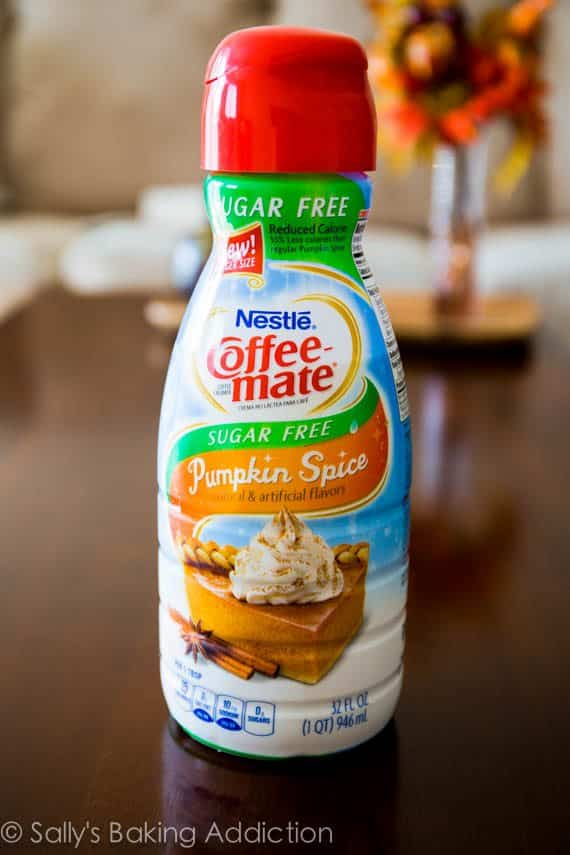 Sugar-free Pumpkin Spice Coffee Creamer - love this stuff!