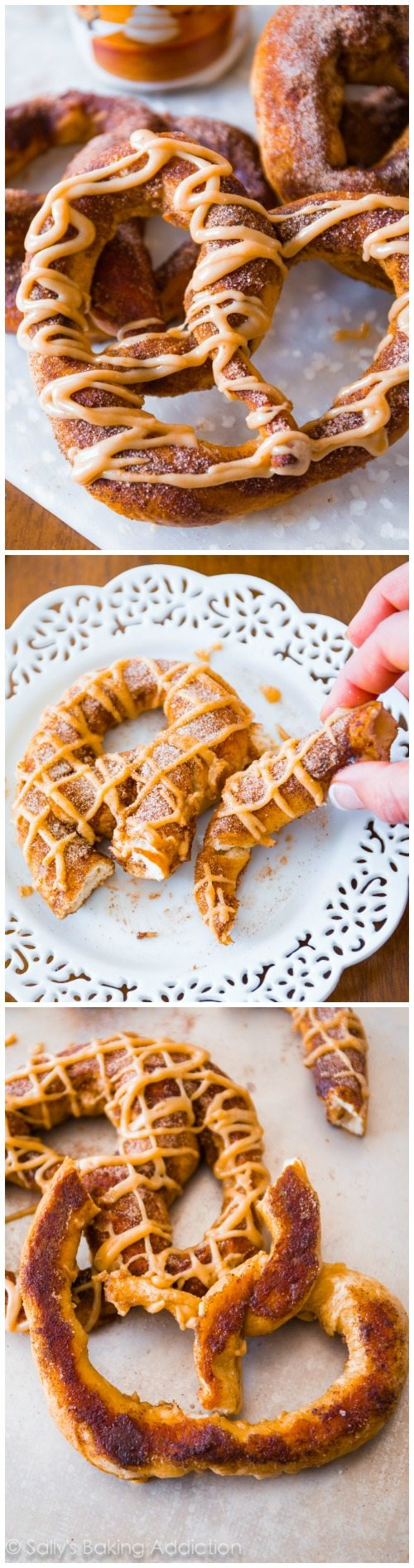 Homemade Pumpkin Pretzels - soft pretzels are so easy to make at home! Add a little pumpkin spice and a drizzle of sweet pumpkin praline glaze. These are SO good!