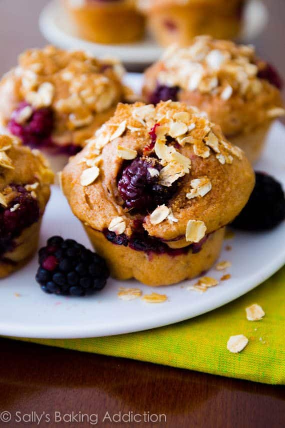 Sky High Blackberry Apple Muffins