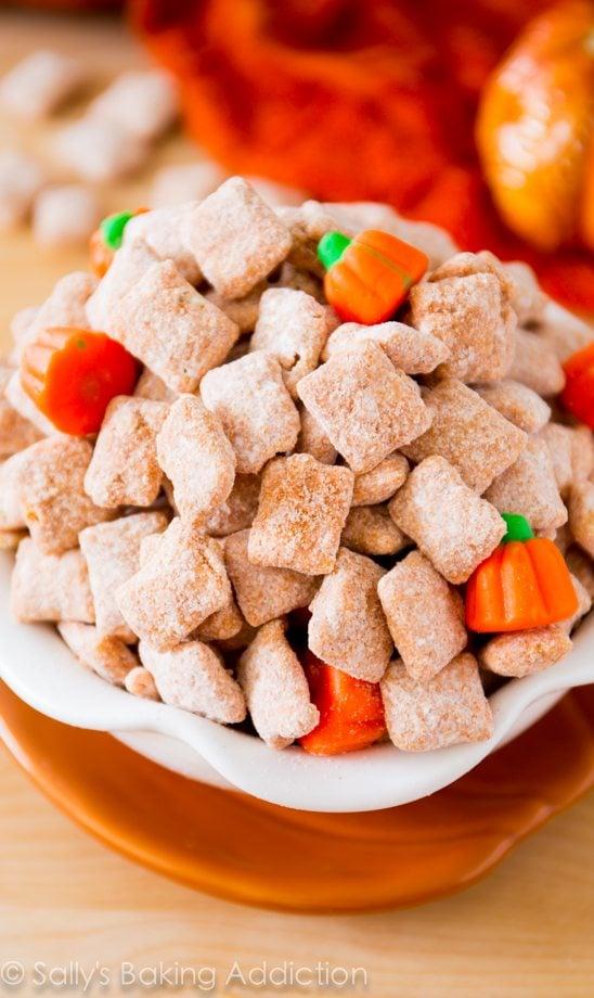 Yummy Pumpkin Spice Puppy Chow