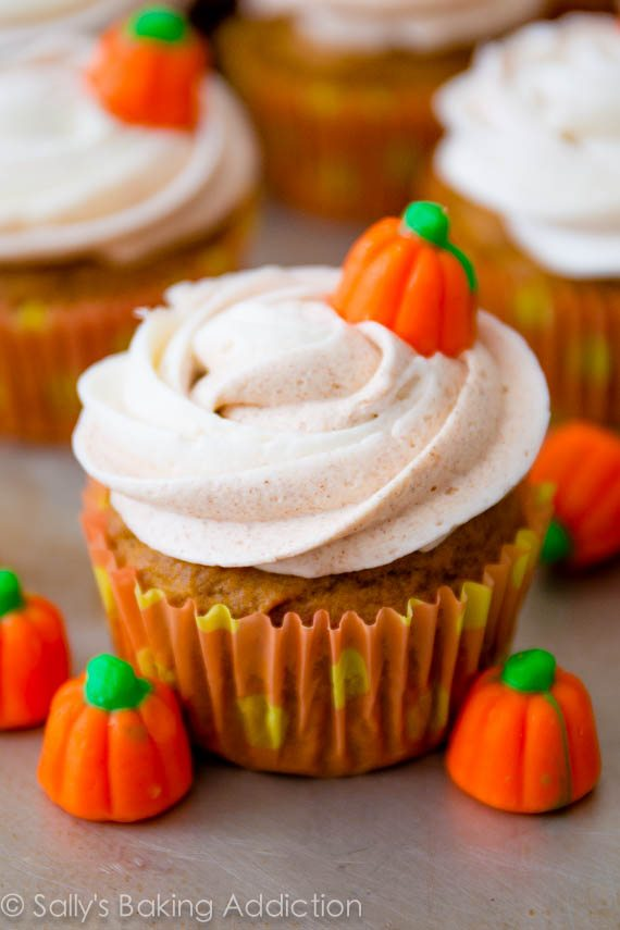 Pumpkin Cupcake Recipes my favorite pumpkin cupcakes - sallys baking addiction