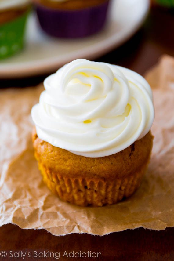 Pumpkin Muffins With Cream Cheese Frosting Recipe — Dishmaps