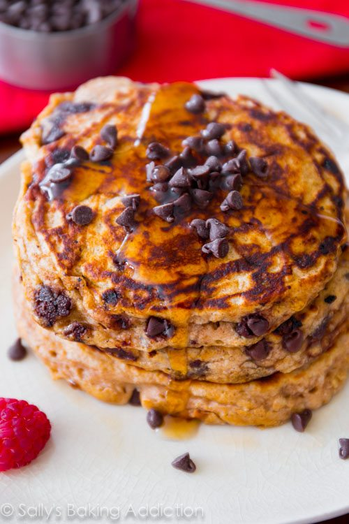 Healthy Whole Wheat Pancakes That Actually Taste Good Made With Greek Yogurt Oats