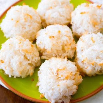Easy Coconut Macaroons. Get the recipe (plus 3 other variations) at sallysbakingaddiction.com-2