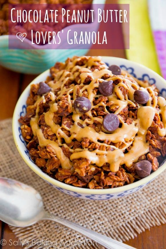 Chocolate Peanut Butter Lovers' Granola - an easy, healthy treat for all of us with a sweet tooth!