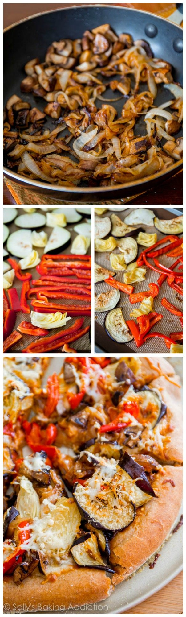 Roasted Vegetable Whole Wheat Pizza made with a healthy, homemade whole wheat pizza crust. You will love this recipe!