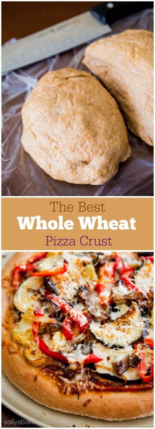 Make Homemade Whole Wheat Pizza Crust. Honey-sweetened, soft, fluffy