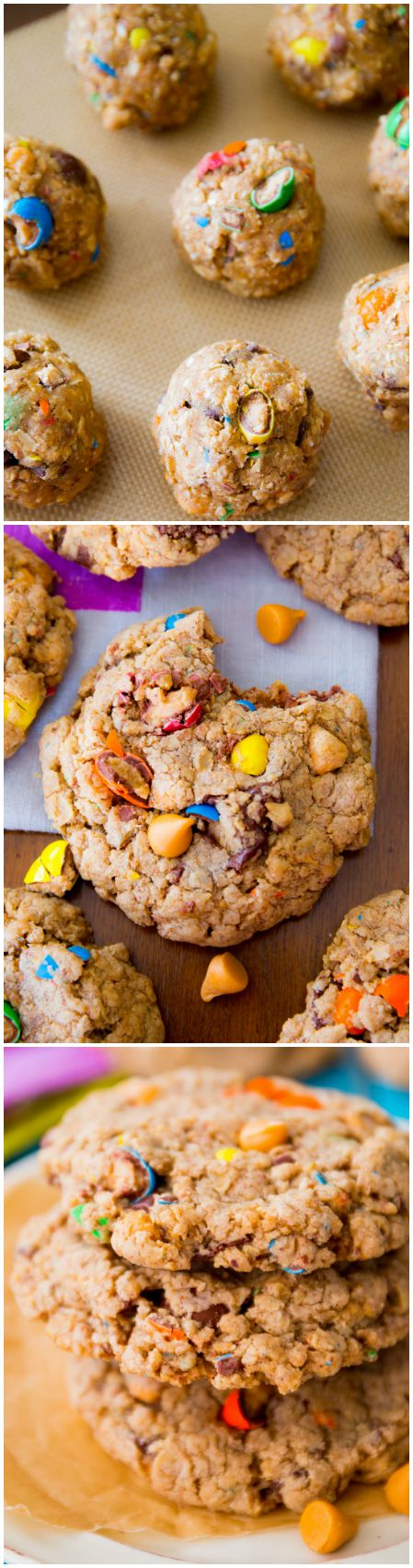Soft and chewy Loaded Oatmeal Cookies-- fill with your favorite chips, chunks, and candies!
