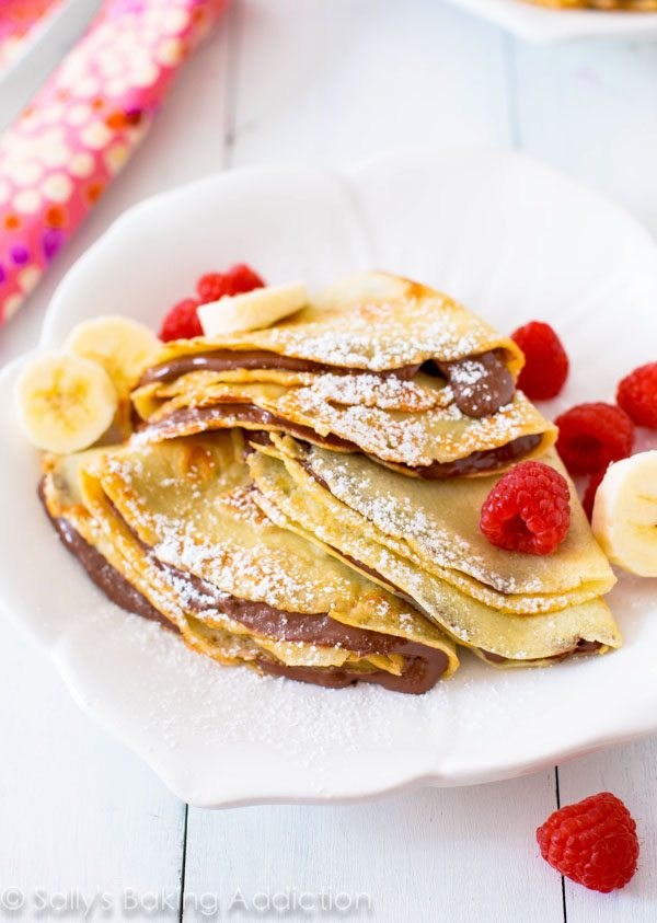 And Vanilla Crepes with Nutella next – recipe in my cookbook .