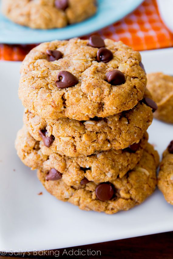ingredient Flourless Peanut Butter Oatmeal Cookies - soft, chewy ...